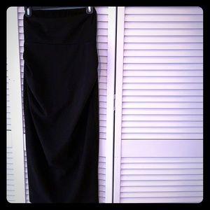 Strapless Black Maternity Dress